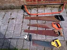 Freecycle Job lot hand saws x6