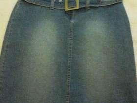 Freecycle Playboy Motif Denim Skirt