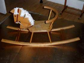 Freecycle Wooden child's rocking horse