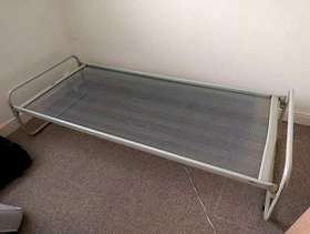 Freecycle Single bed frame, with matress