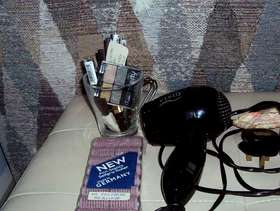 Freecycle Hairdryer, make up, fragrence & curlers