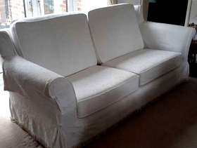 Freecycle 3 seater and 2 seater cream sofas