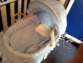 Freecycle Moses basket and stand
