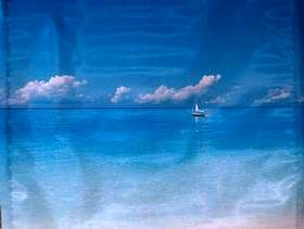 Freecycle Outdoor Wall Art Blue Seascape