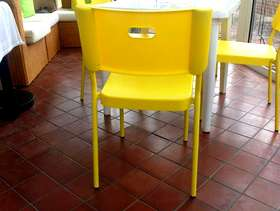 Freecycle 6 Brand New Bright Yellow Chairs