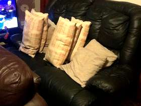 Freecycle Leather sofa recliner 2 seater and 2 single seater .