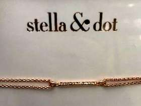 Freecycle Stella & Dot NEW rose gold bracelet. 'Go Be Lovely'. ...