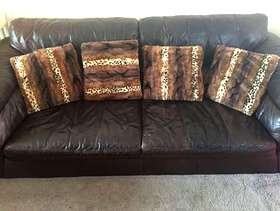 Freecycle Brown leather sofas
