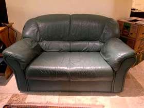 Freecycle Leather Sofa