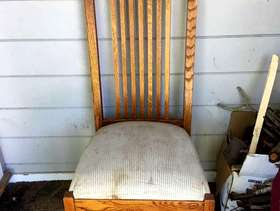 Freecycle Craftsman dining chairs