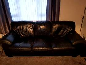 Freecycle Blacker leather couch leather