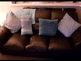 Freecycle 3 Seat Leather Sofa