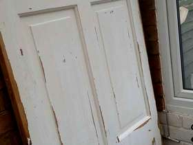 Freecycle Solid pine six panel door