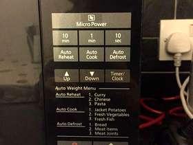Freecycle Panasonic microwave