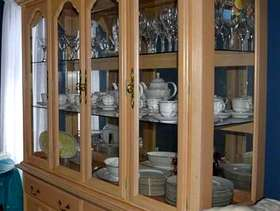 Freecycle Solid wood China cabinet