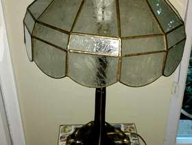 Freecycle Lamp with gorgeous glass shade