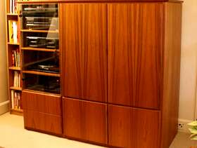 Freecycle Teak TV and media cabinet (also TV)