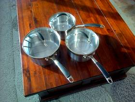 Freecycle 3 stainless steel pans