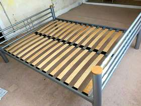 Freecycle King size bed frame and mattress