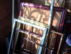 Freecycle Joblot of wooden frames