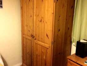 Freecycle Large pine wardrobe