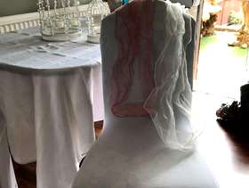 Freecycle Wedding chair covers and organza bows