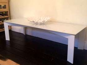 Freecycle White Glass IKEA coffee table