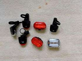 Freecycle Bicycle lights - front and rear
