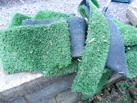 Freecycle Astroturf Fake Grass Offcuts