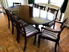 Freecycle Dining Table and 8 Chairs
