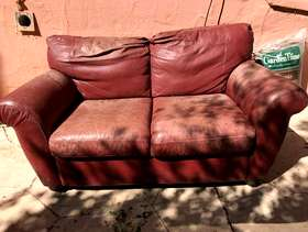 Freecycle FREE Comfortable Leather Sofa Needs TLC