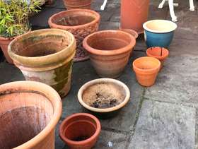 Freecycle 12 terracotta pots