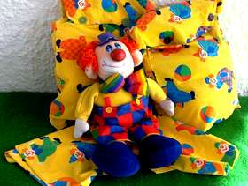 Freecycle Four Large Toy Sacks and a Colourful Clown