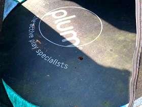 Freecycle Enclosed garden trampoline