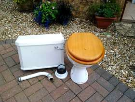 Freecycle Toilet pan and cistern 1950s