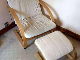 Freecycle Chair and foot stool