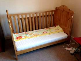 Freecycle Mothercare Cotbed with mattress