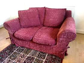 Freecycle Red Two-Seater Sofa