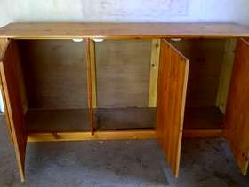 Freecycle Large pine cupboard
