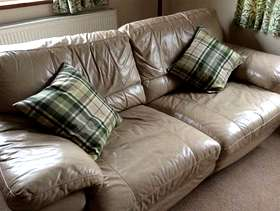 Freecycle 3 seater, leather sofa bed