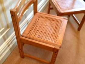Freecycle Wooden chairs