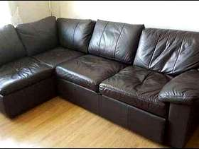 Freecycle Free Dark brown leather sofa bed