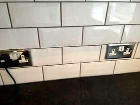 Freecycle 2 boxes of white metro tiles unused.