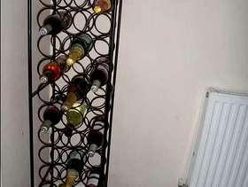 Freecycle French ornate metal wine rack