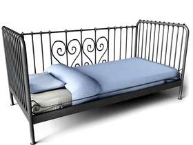 Freecycle Single metal framed bed