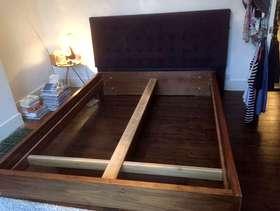 Freecycle Kingsize bed frame & headboard
