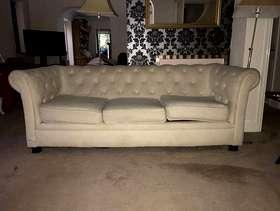 Freecycle Cream sofa