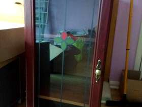 Freecycle Glass fronted cabinet