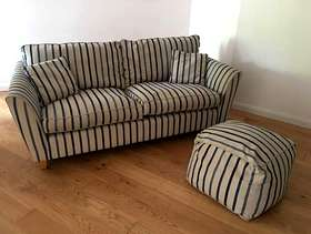 Freecycle Laura Ashley Large Two Seater Sofa and Footstool