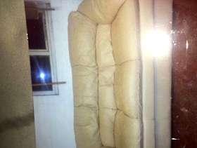 Freecycle Beige leather sofa